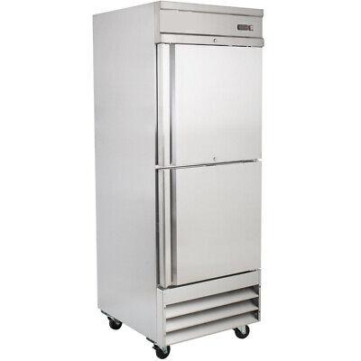 Stainless Steel 29 Reach-in Solid Door Upright 2 Door Commercial Freezer