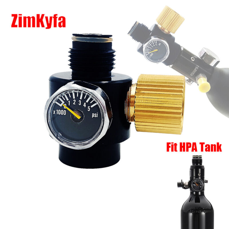 PCP Paintball Tank Adjustable Regulator Output Pressure 3000psi G1/2-14 Thread