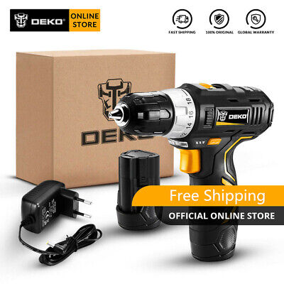 DEKO 12V 32N.m 2-Speed Lithium-Ion Battery Electric Cordless Drill Mini Drill Cordless Mini Drill
