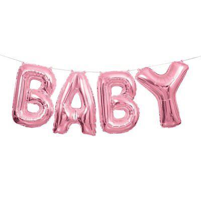 Dusche Brief Ballon Banner Set Einzigartige 4 Party Mädchen (Brief Ballons Pink)