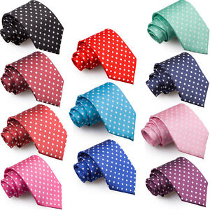 NEW-DQT-HIGH-QUALITY-POLKA-DOT-MENS-WEDDING-TIE