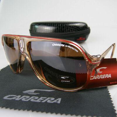 Neu Carrera UNISEX Sonnenbrille Dunkel Braun Retro Gläser Hergestellt in