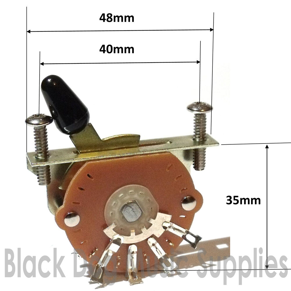 Guitar Switch 3 Way 4 Or 5 Including Screws Pickup Selector 2 Of