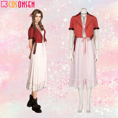 FF7 Remake Aerith Gainsboro Cosplay Costume Final Fantasy VII Halloween Suit