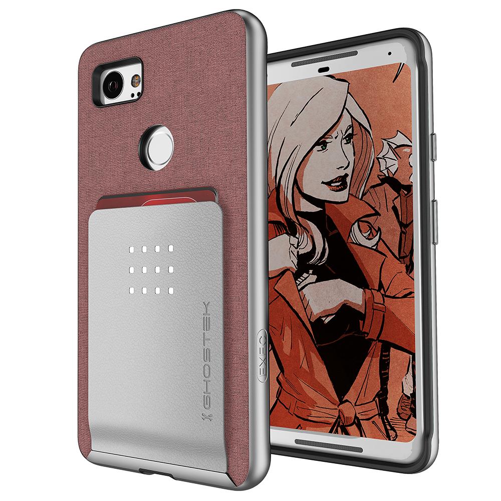 For Google Pixel 2 XL Case | Ghostek EXEC2 Card Holder Walle
