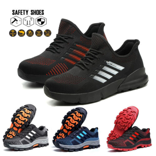 Mens Safety Shoes Steel Toe Cap Work Boots Women Lightweight Hiking Trainers UK