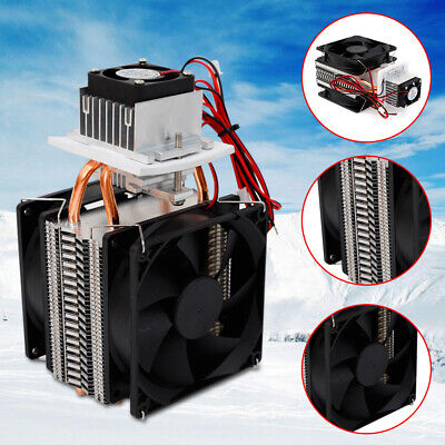 12v Thermoelectric Peltier Refrigeration Cooling System Kit Cooler Fan 72w Top