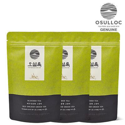 OSULLOC Jeju Orchid Green Tea 20ea x 3Pouch Pyramid Tea Bags made in Korea