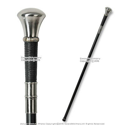 "36"" Knob Handle Walking Stick Gentleman's Cane Metal Shaft"