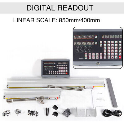 Digital Readout Milling Lathe Machine 2 Axis Dro Kit Precision Linear Scale New