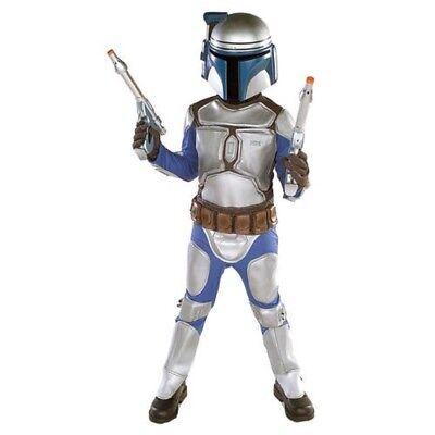 Jungen Kind Star Wars Deluxe Jango Fett Kostüm (Jango Fett Kostüm Kind)