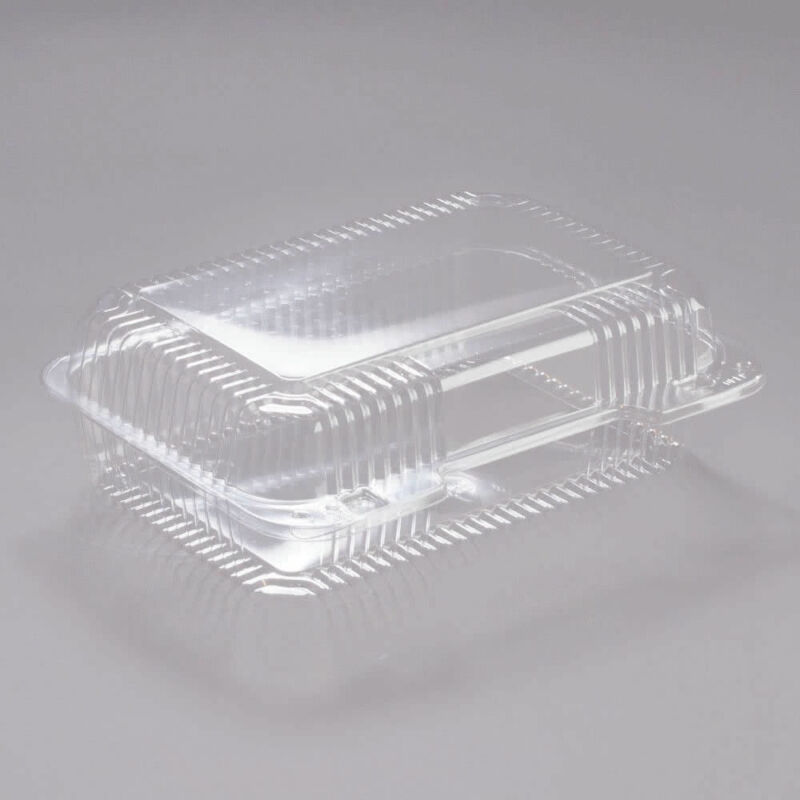 Dart PET40UT1 Med Oblong High Dome PET Hinged Container