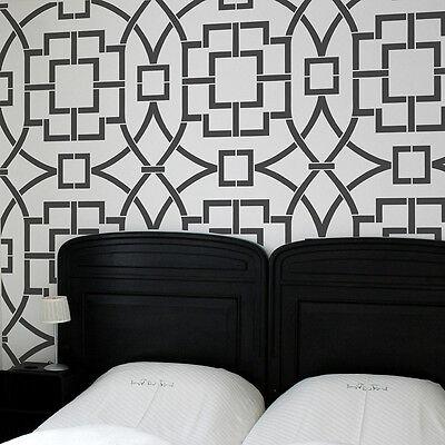 Tea House Trellis Allover Stencil - Reusable Wall Stencils for DIY Home Decor!