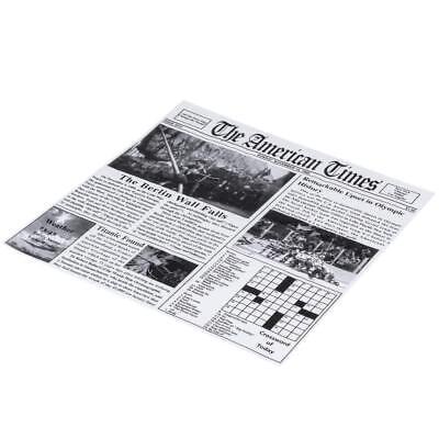 12 X Food Basket Liner Deli Wrap Newspaper Print Sandwich
