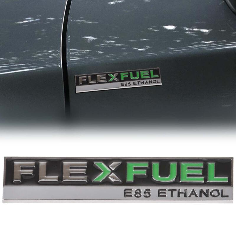 1* Chorme Metal Flex Fuel E85 Ethanol Car Side Fender Tail Emblem Badge Sticker