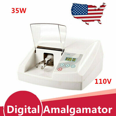 110v Dental Lab Digital High Speed Amalgamator Amalgam Capsule Mixer 35w Top