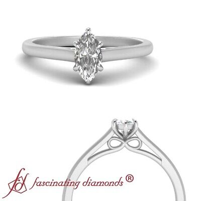 .50 Carat Marquise Cut Diamond Solitaire Bow Pattern Engagement Ring For Women