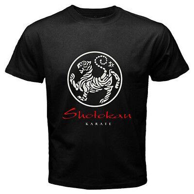 New JAPAN SHOTOKAN KARATE SYMBOL Men's Black T-Shirt Size S to -