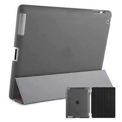 Smart Schutz Hülle iPad 2 3 4 Case Cover Aufstellbar Ständer Schale Etui Schwarz