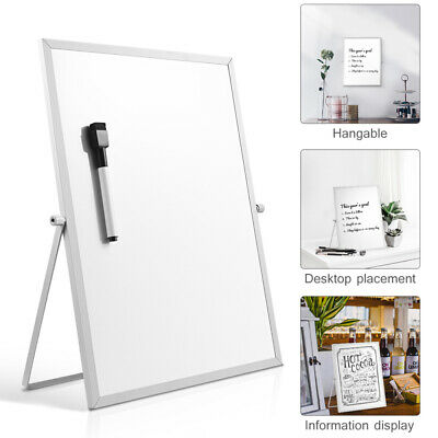 Desktop Magnetic Whiteboard 14 X 11inch Dry Erase White Board Standing Planner