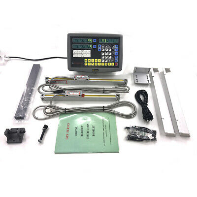 Digital Readout Dro Kit For 9x42 Bridgeport Mill W Glass Scales Encodor 2 Axis