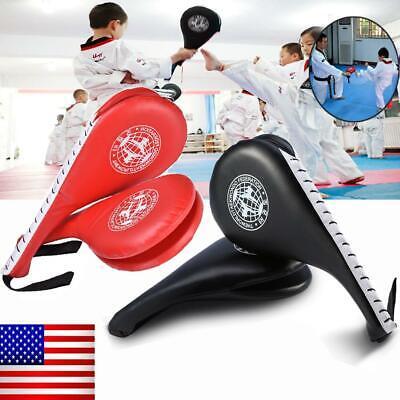 - Double Clapper Target Focus Kick Striking Pad Karate Taekwondo Kickboxing USA