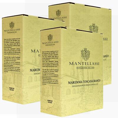 Weißwein Bag In Box Maremma Toscana DOC Fattoria Mantellassi 3X5 Liter