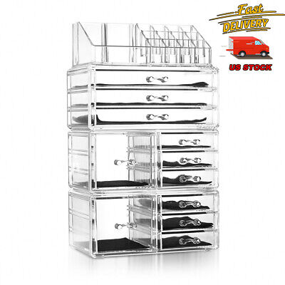 11 Drawers Clear Acrylic Tower Organizer Cosmetic Jewelry Luxury Storage Cabinet