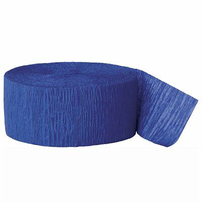 Blue Streamers (Crepe Paper Royal Blue Party Streamers)