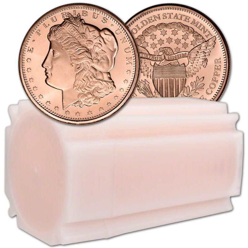 1 oz. Golden State Mint Copper Round Morgan Dollar .999 Fine Tube of 20