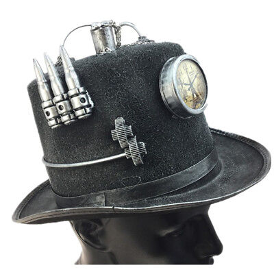 Steampunk Top Hat Mad Scientist Halloween Costume Cosplay Party With Clock - Mad Scientist Party Halloween