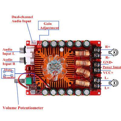 TDA7498E 160W x2 Two Channel Audio Power Amplifier Board Module 108 x 78mm New