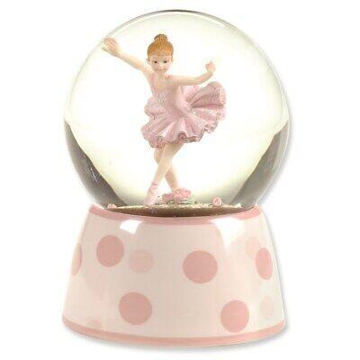 Jewelry Snow Globe 100mm Musical Ballerina Glitterdome Porcelain, 5.75 inch