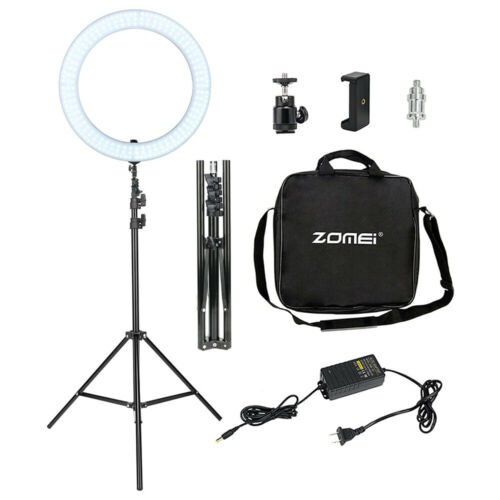 18'' LED SMD Ring Light Kit With Stand Dimmable 5500K For Camera Makeup Phone