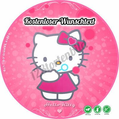 Tortenaufleger Geburtstag Tortenbild Zuckerbild Hello Kitty 01