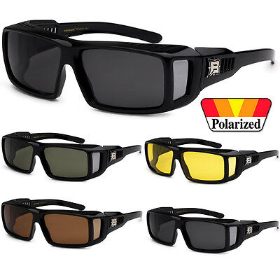 1 Pair Polarized Cover Put Over Sunglasses Wear Rx Glass Fit Driving Medium Uv