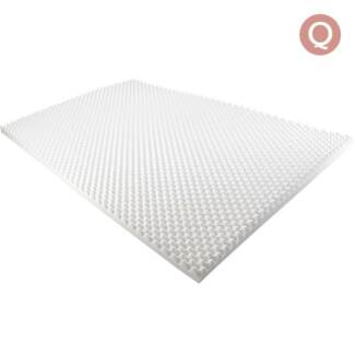 Deluxe Egg Crate Mattress Topper 5 cm Underlay Protector Queen