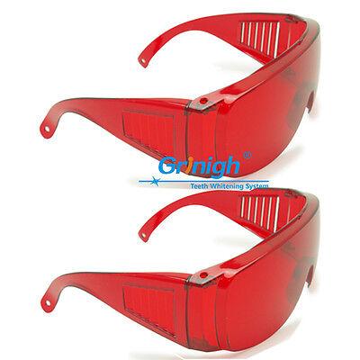 2x Dental Eye Protection Goggles Violetbluegreen 200-560 Laser Safety Glasses