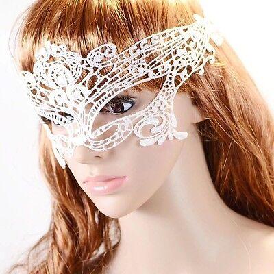 Umwerfend Weiß Venezianische Maskerade Halloween Spitze Party Kostüm Ösen - Venezianische Kostüm Halloween