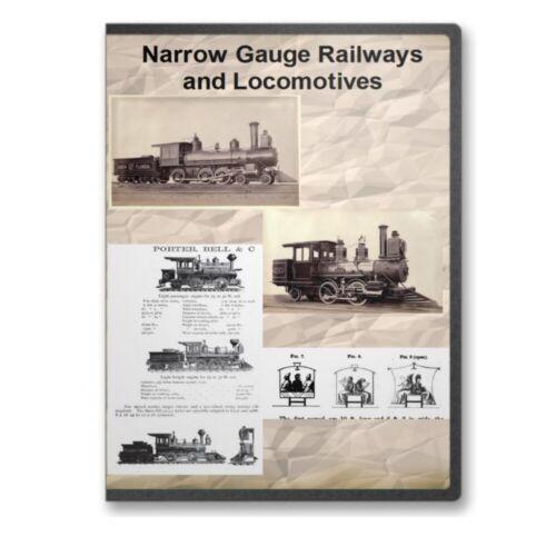 Narrow Gauge Railways and Locomotives - 9 Historic Books Railroad Train CD- D429