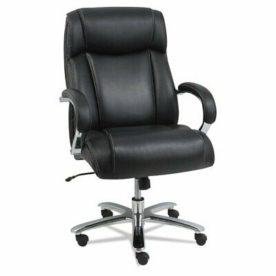 Alera Alems4419 Maxxis Series Big And Tall Leather Chair Blackchrome
