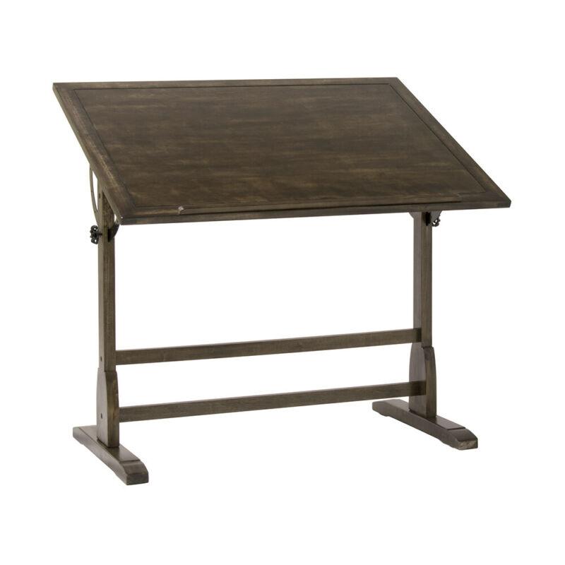 Studio Designs Vintage Wood Art Drafting Desk Table with Adjustable Tilting Top