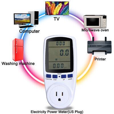 Digital Lcd Power Saving Energy Monitor Watt Amp Volt Kwh Meter Analyzer 60hz