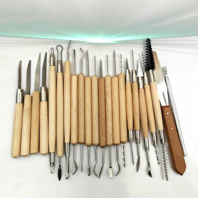 22PCS Pottery Clay Wax Sculpting Polymer Modeling Carving Tools Craft Kit Xmas ()