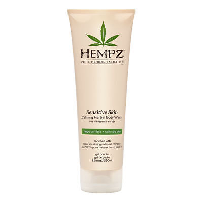 Hempz Sensitive Skin Herbal Body Wash, Off White, 8.5 Fluid