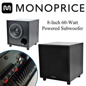 Monoprice 108248 8-Inch 60-Watt Powered Subwoofer Condtion: Lightly used