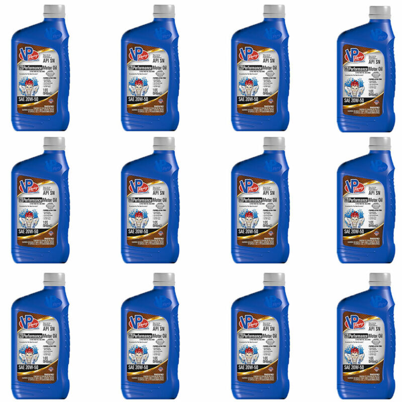 VP Racing Fuels 2975 Quart 20W 50 High Performance Synthetic Motor Oil(12 Pack)
