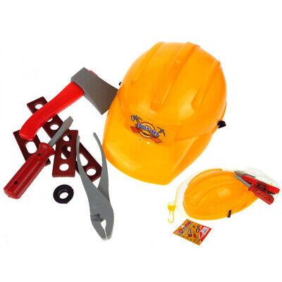 Kinder Werkzeugset 9 tlg Handwerker Bauarbeiter Baumeister Karneval Fasching Kinder-werkzeug-set