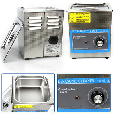 1.3l Industry Ultrasonic Cleaner Dental Jewelry Watches Cleaning Tank Timer 60w