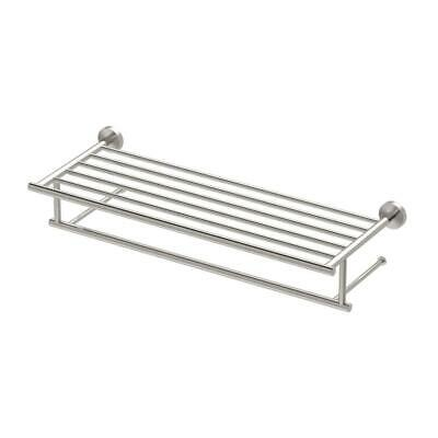 Gatco Glam 25.75 in. W Hotel Spa Rack in Satin Nickel
